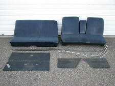 1967 Plymouth Barracuda Dk Blue Cloth Bench Seat, Rear Seat, Door Panels & Misc
