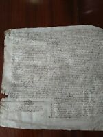 Vellum document in Latin dated 1630, time of Charles the first Latin.