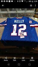 Jim Kelly Signed Buffalo Bills Blue Jersey (JSA COA) 4X Super Bowl Quarterback
