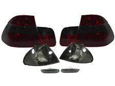 99-01 BMW E46 4DR Sedan Facelift Red/Smoke Tail Light+Corner Signal+Side Marker