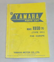 Parts Catalog/Spare Parts List Yamaha RD50 Type 2U1 from Year 1978