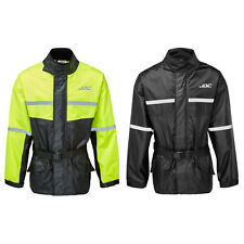 JDC Motorcycle Motorbike Waterproof Rain Over Jacket Hi-Vis Black/Yellow SHIELD
