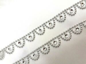 15mm/1YRD Diamante Bling Sparkling Diamond Effect Wedding Cake Craft Trim Ribbon