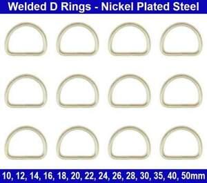 Welded D RINGS 10mm 12mm 14mm 16mm 18mm 20mm 24mm 26mm 28mm 30mm 35mm 40mm 50mm