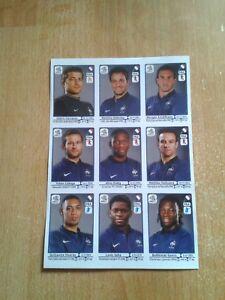 Panini EURO 2012 France extra stickers copy set Rare !