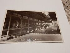 LOUTH RAILWAY STATION REAL PHOTOGRAPHIC  AUTHENTIC EDWARDIAN POSTCARD VG