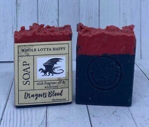 BULK 4 Pack Handmade ~ DRAGONS BLOOD ~ Fragrance Oil Soap AUSTRALIAN MADE