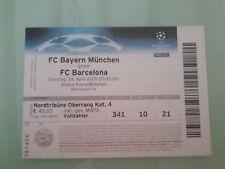 CHAMPIONS LEAGUE TICKET.BAYERN MUNCHEN-FC BARCELONA. 14/04/2009