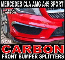 Mercedes CLA 45 AMG & Sport W117 Carbon DTM Style Front Bumper Splitters