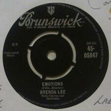"Brenda Lee(7"" Vinyl 1st Issue)Emotions-Brunswick-45 05847-UK-Ex/Ex"