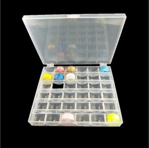 Universal Sewing Bobbin Spool Case Clear 36-Grid Storage Box Container Organiser