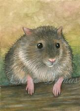 ACEO art print from art painting Hamster 24 by L.Dumas