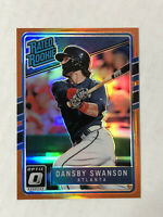 DANSBY SWANSON 2017 Donruss Optic ORANGE REFRACTOR SP RC /199! #33! BRAVES!