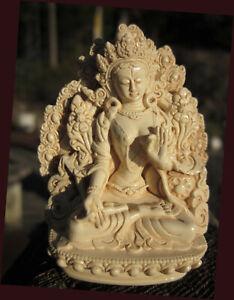 GORGEOUS DETAIL WHITE TARA'S BLESSING HAND-CRAFTED USA TIBETAN BUDDHIST STATUE