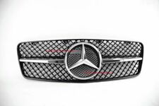 W208 1 FIN GRILLE CLK MERCEDES CLK320 + STAR CLK430 AMG REPLACEMENT GLOSSY BLACK