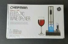 Chefman Electric Wine Bottle Opener Stainless Steel Rechargeable