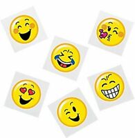 Emoji Temporary Tattoos - Smiley Party Bag Fillers - Pack Sizes 6 - 36