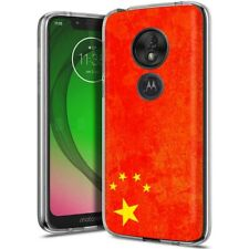 Thin Gel Phone Case For Motorola moto g7 play,Oldflag China Red Five Star Print