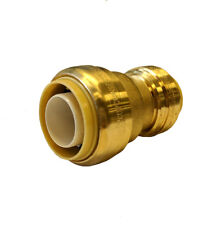 Libra Supply 3/4'' x 1/2'' inch Push-Fit brass Coupling, Push to Connect, 12 pcs
