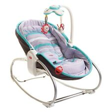 Tiny Love 3-in-1 Rocker Napper v2 (Grey/Turquoise) baby rocker & cot all-in-one