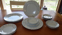 Vintage Fine China of Japan English Garden Dinnerware Platinum 16pcs 1968 ser 4
