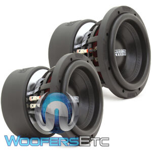 "(2) SUNDOWN AUDIO X-8 V.3 D4 8"" 800W RMS DUAL 4-OHM SUBWOOFERS BASS SPEAKERS NEW"