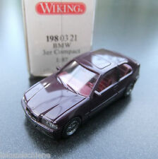 BMW  3 er Compact  rotbraun . Wiking HO 1:87 #340