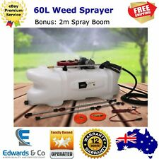 Weed Sprayer Pump 60L Chemical Tank Boom Spray 12v Wand Garden ATV Quad Bike