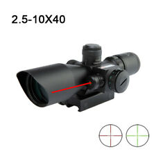 Hunting Rifle Scope 2.5-10X40 Dual Illuminated Mil-dot Optics with Red Laser