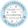 48 Personalised Christening Baptism  party bag stickers Sweet Cone Labels  40mm
