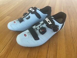 Sidi Ergo 5 Matt Limited Edition Pale Blue 42.5 Road Cycling Shoe FREE SHIPPING