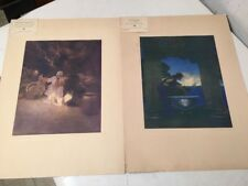 2 Maxfield Parrish Collier Prints Circe's Palace & Cassim In Cave Of 40 Thieves