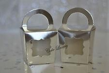 Metallic Silver Mini Cupcake Box / Bomboniere / Favour / Gift Box