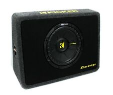 "Kicker TCompS 40TCWS104 10"" 600 Watt Car/Truck Thin Mount Loaded Subwoofer + Box"