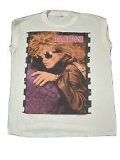 vtg 80s MADONNA LIKE A VIRGIN TOUR 1985 FILM REEL BOY TOY MUSCLE TEE t-shirt S