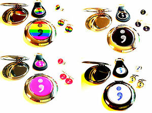 Semi Colon Gifts 10% To Charity Mental Health Keyring Mirror Cufflinks Pin Badge
