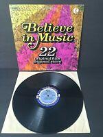 Believe In Music - K-Tel 22 Original Hits & Stars - 1972 Vinyl LP Record Album
