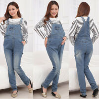 Maternity Jeans Dungarees Pregnancy Pants Overalls Denim Cute Classic 8 10 12 14