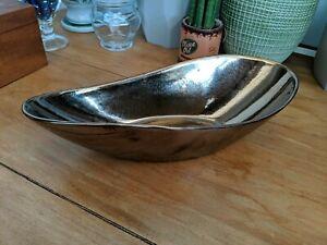Decorative Ceramic Bowl in Bronze Finish