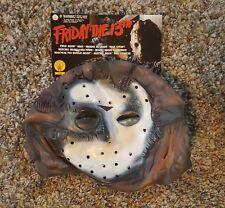 Friday The 13th Adult Jason Vinyl Mask Scary Horror Halloween NWT