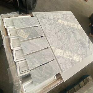 Marble Subways Polished Italian Marble Natural Stone Carrara White, 150x300x10mm