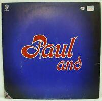 """PAUL STOOKEY - 'PAUL AND"""" LP (1972) WARNER BROS. K 46103 Original UK"""