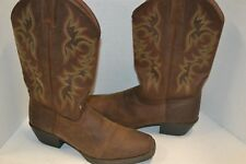 """Mens Justin 2552 Square toe 13"""" Leather WESTERN COWBOY BOOT Brown Sorrel  11.5 D"""