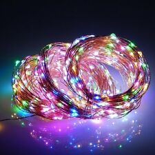 Multicolor LED Solar String Lights Copper Wire 200LEDs 66ft Rope Lights for Home