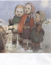 MABEL LUCIE ATTWELL CHARMING ORIGINAL BOOK PRINT FROM 1990's CAROL SINGERS