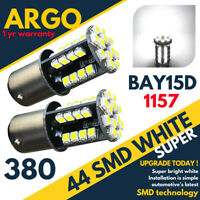 44 LEDS 360° WHITE LED STOP/TAIL BRAKE/SIDE LIGHT BULBS 1157 BAY15D P21/5W 380 X