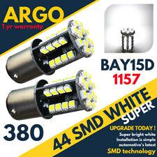 44 LEDS 360° WHITE LED STOP/TAIL BRAKE/SIDE LIGHT BULBS 1157 BAY15D P21/5W 380 X