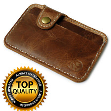 Mini Leather Wallet Slim Small ID Credit Card Holder Coin Purse for Men Women