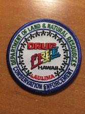 PATCH POLICE LAULIMA DRUG FREE DEA CONSERVATION ENFORCEMENT - HAWAII HI STATE