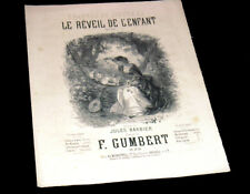 le réveil de l'enfant chant piano 1868 F. Gumbert